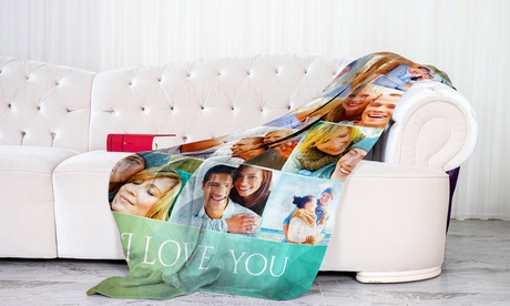 Personalized Soft Cozy Fleece Blankets from Printerpix in Multiple Sizes (Up to 94 perc Off)