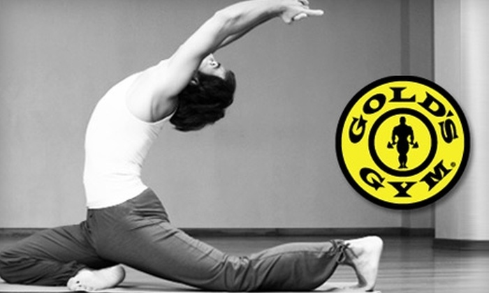 Gold's Gym-Amarillo - Multiple Locations: $20 for 10 Yoga and Pilates Classes at Gold's Gym (a $60 Value)