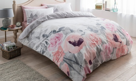 Pieridae Floral Duvet Cover Set