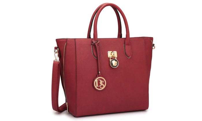 ... Dasein MMK Collection Padlock Satchel Handbag: Dasein MMK Collection  Padlock Satchel Handbag ...