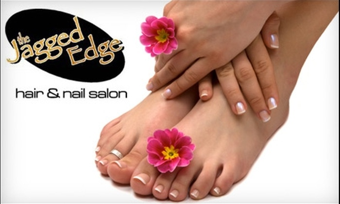 The Jagged Edge Hair and Nail Salon - Glenelm: $45 for Spa Mani-Pedi ($90 Value) or $30 for Full Set of Gel Nails for Hands or Feet ($65 Value) at Jagged Edge Hair and Nail Salon