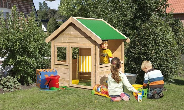 karibu holz kinderspielhaus groupon goods. Black Bedroom Furniture Sets. Home Design Ideas