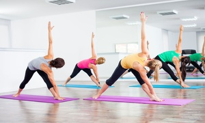The Gentle Place: 5 or 10 Yoga Classes or One Month of Unlimited Yoga Classes at The Gentle Place (Up to 93% Off)
