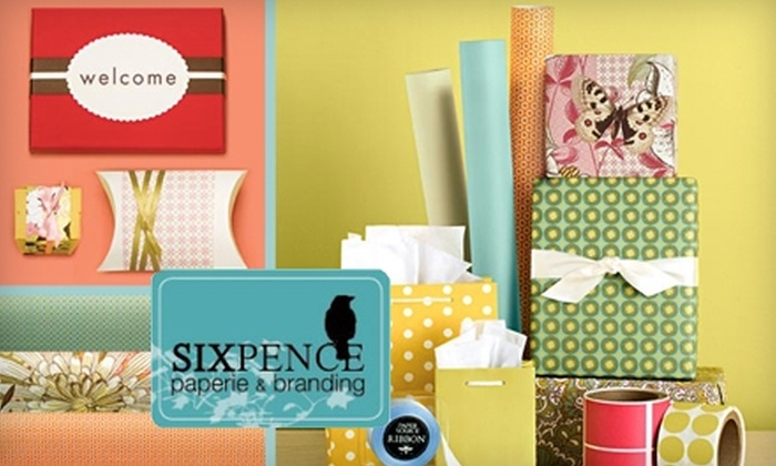 Sixpence Paperie - City Center: $10 for $20 Worth of Cards and Gifts at Sixpence Paperie