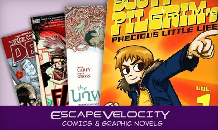 Escape Velocity - Downtown Colorado Springs: $10 for $20 Worth of Comics, Graphic Novels, and Merchandise at Escape Velocity