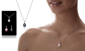 Ensemble de 3 pendentifs en perle de culture