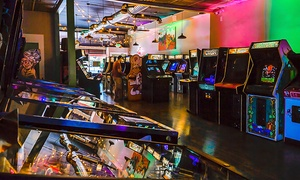 Two-Hour Games Pass for 1, 2, or 4 People or an All-Day Games Pass for One at Neon Retro Arcade (Up to 52% Off)