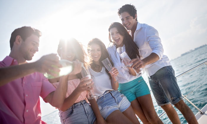 Yacht Party Chicago - Boarding at DuSable Harbor: $25 for a Saturday-Night Country Booze Cruise for One on October 17 ($39.15 Value)