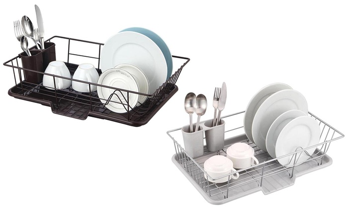 Chrome Dish Drainer Set (3-Piece)