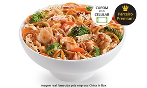 China In Box  - T9: #GreenWeek – China in Box – Setor Marista: yakisoba grande clássico ou de frango para 2 ou 4 pessoas