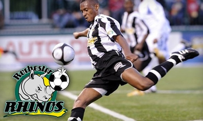 Rochester Rhinos - Brown Square: $7 Ticket to Rochester Rhinos Game ($15 Value). Choose Between Two Games.