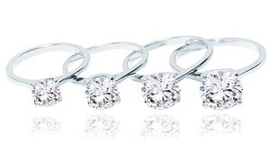 Classic Cubic Zirconia Solitaire Engagement Ring Collection