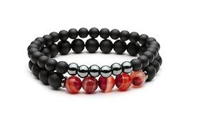Bracelets en obsidienne