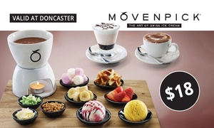 Movenpick Ice Cream Doncaster: $18 for Fondue Set and Choice of Hot or Cold Drinks for Two People at Mövenpick, Doncaster (Up to $36.85 Value)