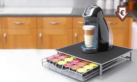 Support de machine à café avec 1 tiroir range capsules pour Dolce Gusto & Nespresso