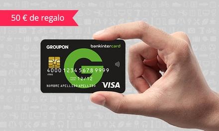 Llévate la nueva tarjeta de crédito Groupon por 0 € con bankintercard