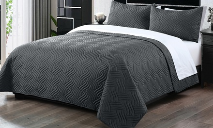ThreePiece Embossed Comforter Set: Queen $39, King $49 Don't Pay up to $149