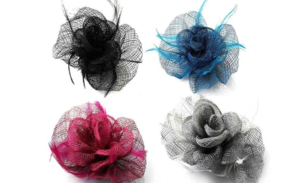Feather and Mesh Fascinator in Choice of Colour for £4.99