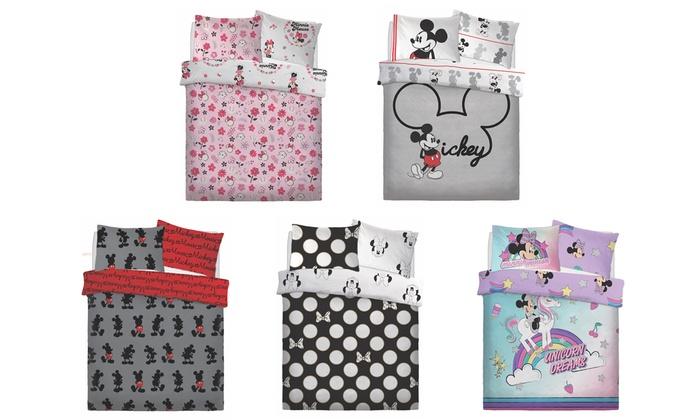 Disney Mickey and Minnie Reversible Duvet Set
