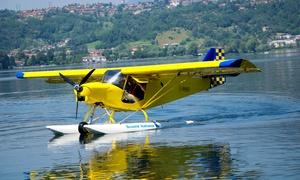 Pilotapersempre: Esperienza di volo con idrovolante e prova di pilotaggio alla scuola Pilota per Sempre, Montemarenzo (sconto 67%)