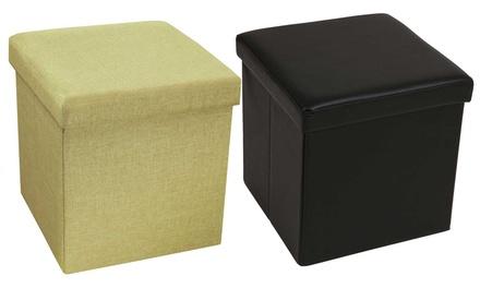 Puffs cúbico o rectangular con almacenaje