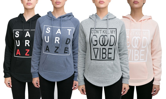 4087acd2ca2 RAG Women s Sweatshirt with Hoddie (2-Pack  Plus Sizes Available) ...