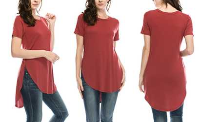 5b48027c383 Shop Groupon Nelly Women s Short-Sleeve Tunic Top