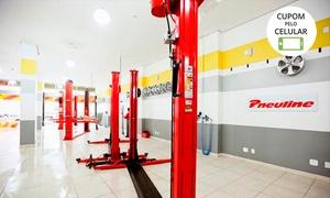 Pneuline Pirelli - Sao Sebastiao: Troca óleo + filtro + alinhamento + balanceamento + fluído de freio Pneuline Pirelli – 4 endereços