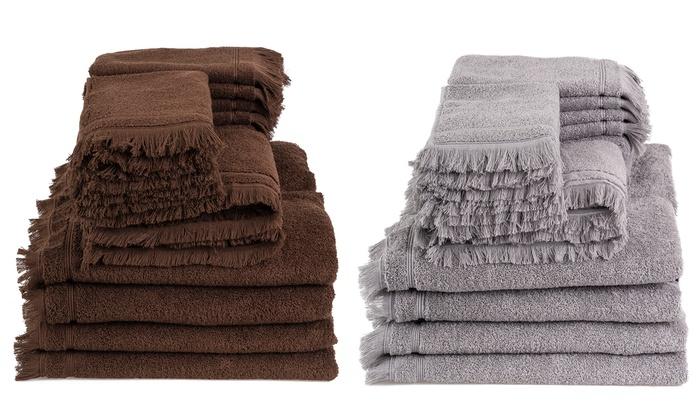 premium handtuch set groupon goods. Black Bedroom Furniture Sets. Home Design Ideas