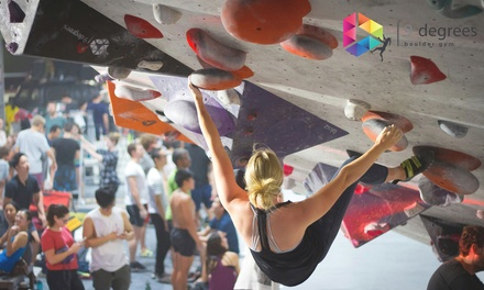 Bouldering Pass with Shoe Rental for One $14 or Two People $28 at 9 Degrees Alexandria Up to $54 Value
