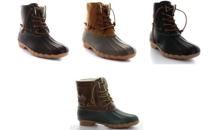 83d012a1256 Seven 7 Speyside Women's Duck Boots | Groupon