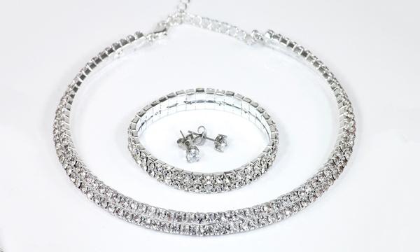 1 ou 2 parures en cristal ornées de cristaux Swarovski®