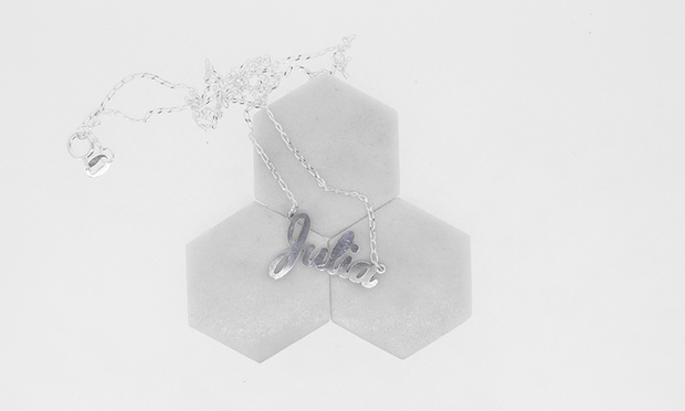 $29 for a Personalised Sterling Silver Name Necklace (Dont Pay $76.82)