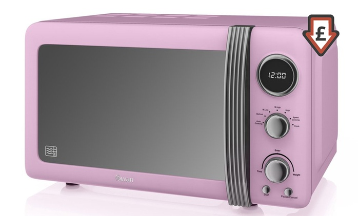 Swan Retro-Style 20l Microwave for £59.99 With Free Delivery (54% Off)