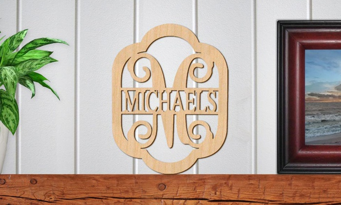 Authentic Monogram: Monogram Last Name Wooden Sign (1 or 2)