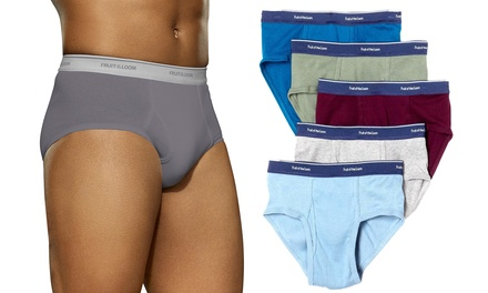 Pack de 5 slips en coton pour hommes Fruit of the Loom