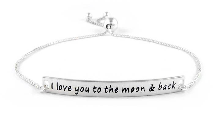 Up To 75 Off On Quot I Love You Quot Charm Bracelet Groupon Goods