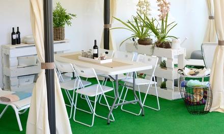 Set tavolo e 6 sedie pieghevoli o 6 sedie groupon goods for Sedie polipropilene bianche