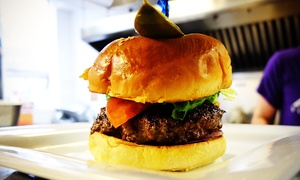 Smith's Pub: Two or Four Burgers and Craft Beers at Smiths Pub (Up to 44% Off)