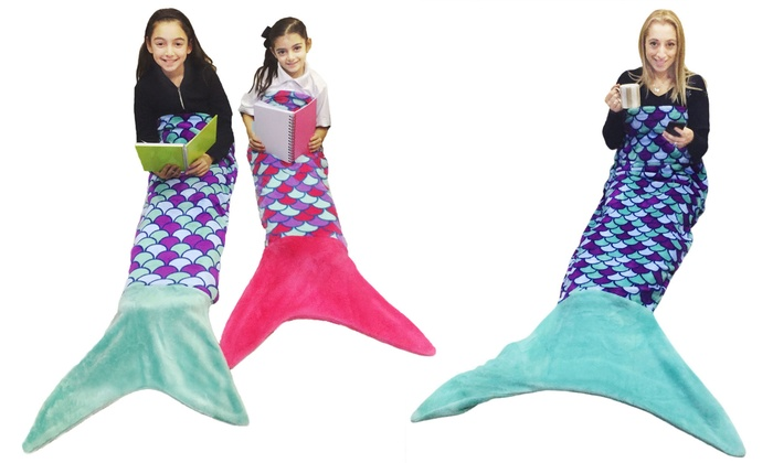 One or Two Original Comfy Mermaid-Tail Blankets from £8