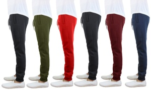 Men's Slim Fit Fleece Jogger Sweatpants (3-Pack)