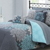 Amber Collection: Reversible Quilt Set with Sheets or Comforter