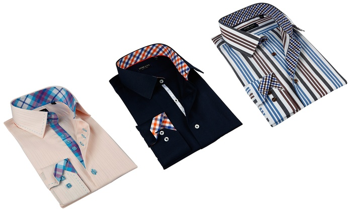 7a2d8cc342c0 Up To 60% Off on Domani Men's Luxe Dress Shirts | Groupon Goods