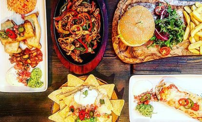 Two-Course Mexican Meal with Margarita for Two at Cafe Mexicana (Up to 58% Off)