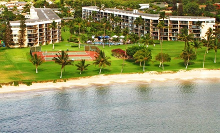 groupon daily deal - Stay at Maui Sunset in Kihei, Maui, HI. Dates into July.