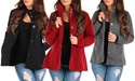 Womens 6 Button Down Jacket