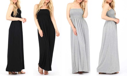 Stretch Bandeau Maxi Dress for £7.99