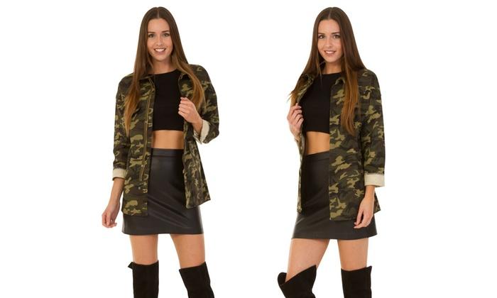 estilo estilo estilo Goods para Chaqueta militar militar militar mujer  Groupon ZXBwqdw a684f813f204