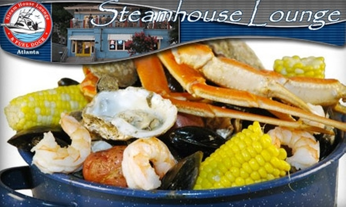 Steamhouse Lounge - Midtown: $10 for $25 Worth of Fresh Seafood and Spirits at Steamhouse Lounge
