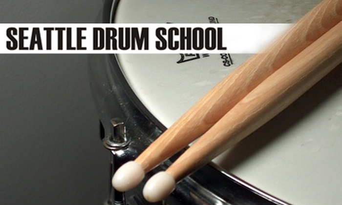 Seattle Drum School - Multiple Locations: $40 for Four 30-Minute Classes on Your Choice of Instrument at Seattle Drum School ($120 Value)